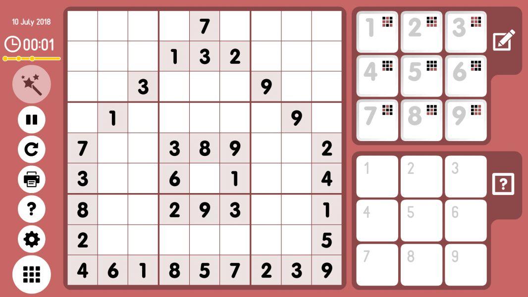 Level 2018-07-10. Online Sudoku