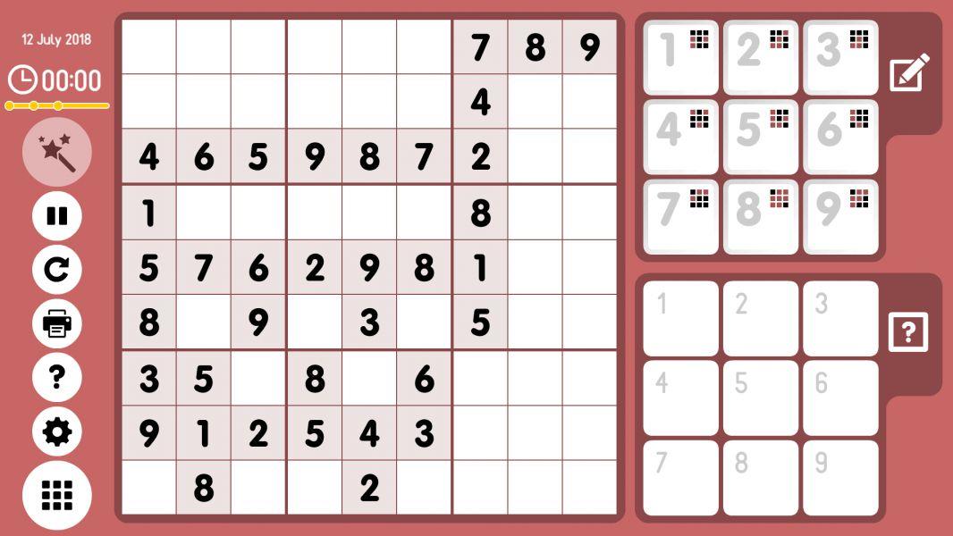 Level 2018-07-12. Online Sudoku