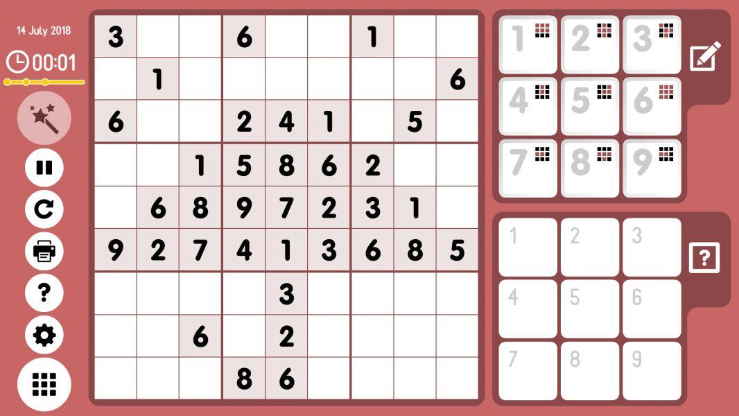 Level 2018-07-14. Online Sudoku