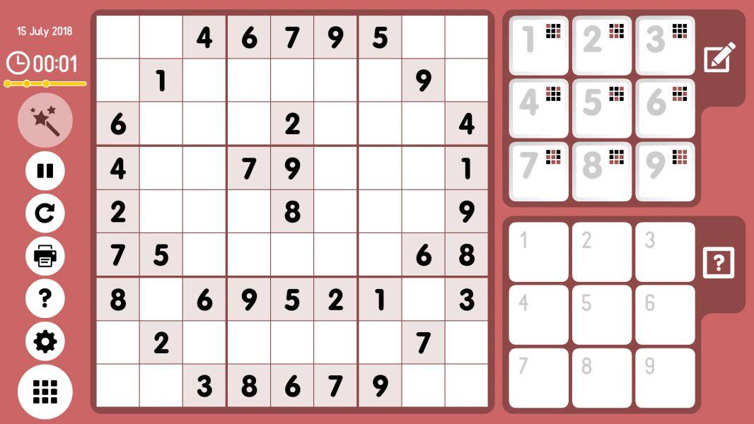 Level 2018-07-15. Online Sudoku