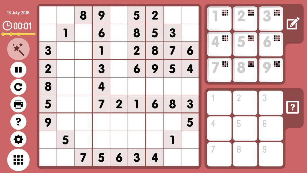 Level 2018-07-16. Online Sudoku