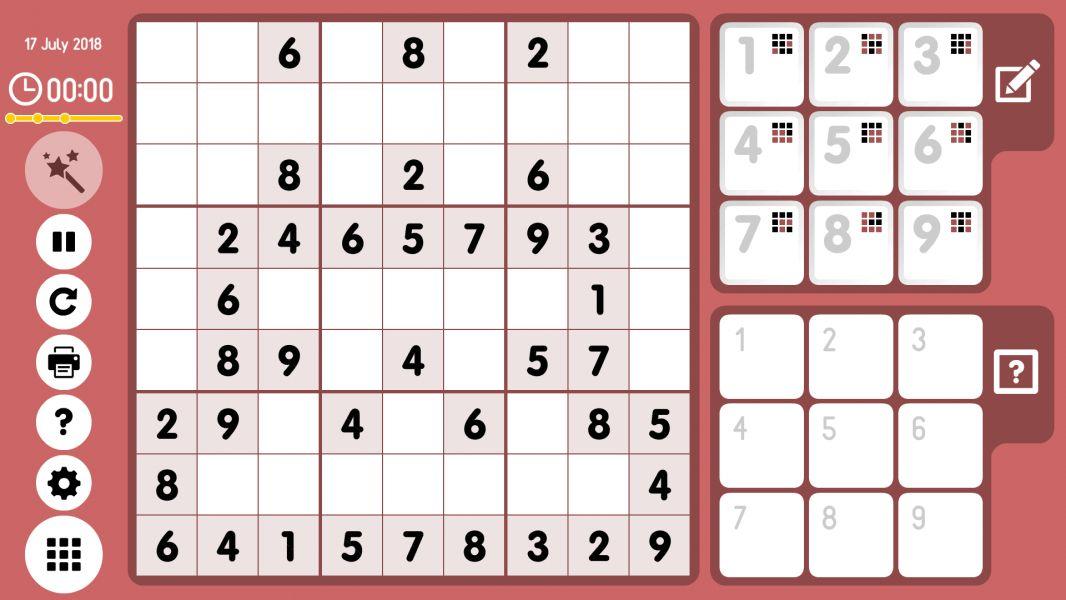 Level 2018-07-17. Online Sudoku