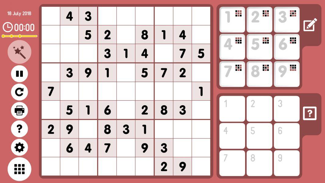 Level 2018-07-18. Online Sudoku