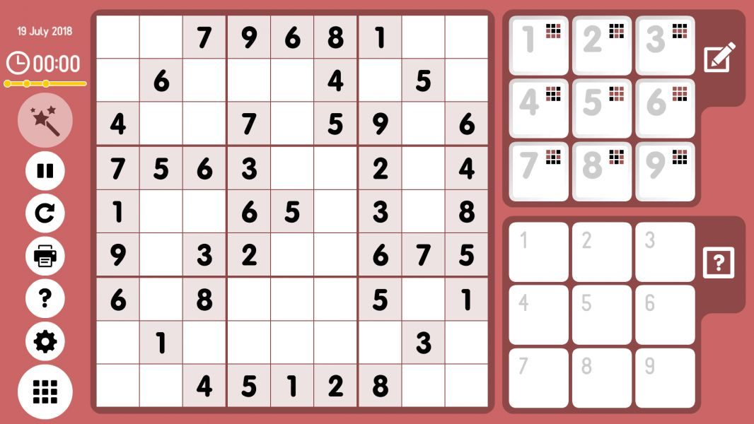 Level 2018-07-19. Online Sudoku