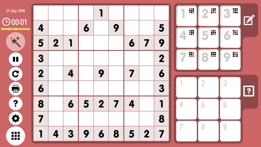 Level 2018-07-21. Online Sudoku