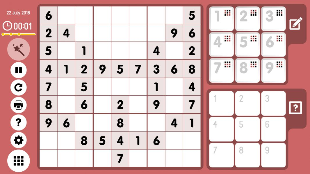 Level 2018-07-22. Online Sudoku