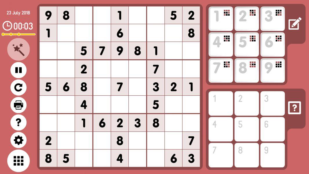 Level 2018-07-23. Online Sudoku