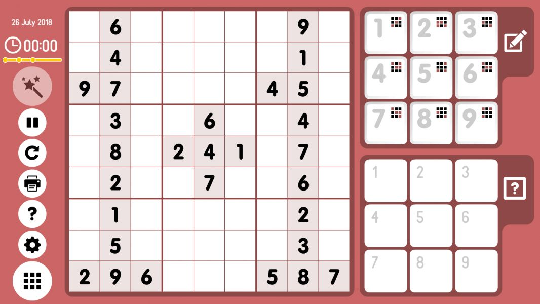 Level 2018-07-26. Online Sudoku