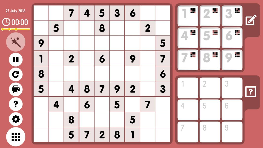 Level 2018-07-27. Online Sudoku