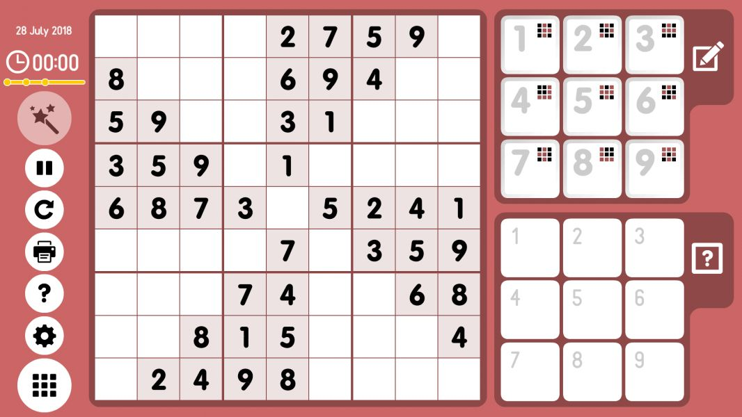 Level 2018-07-28. Online Sudoku