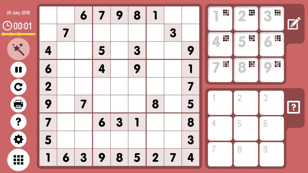 Level 2018-07-29. Online Sudoku