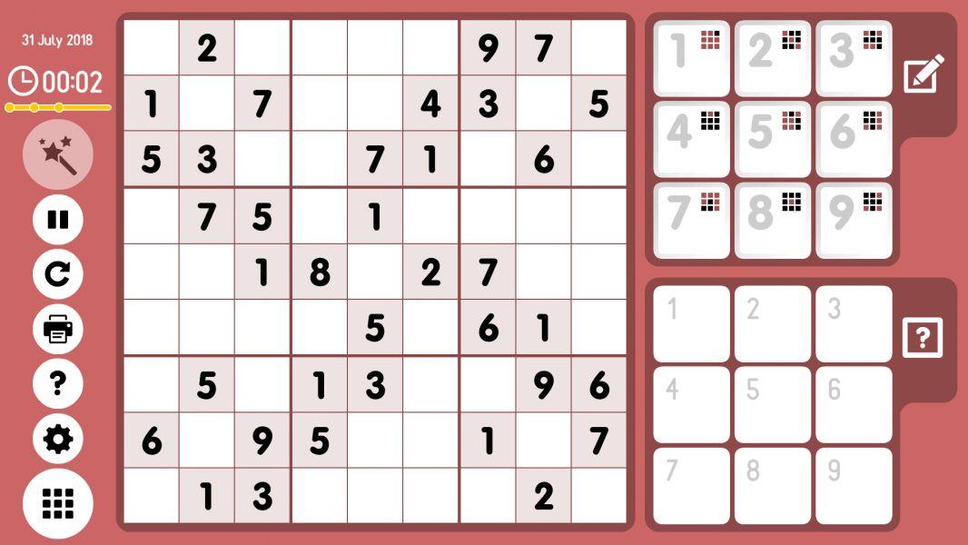 Level 2018-07-31. Online Sudoku
