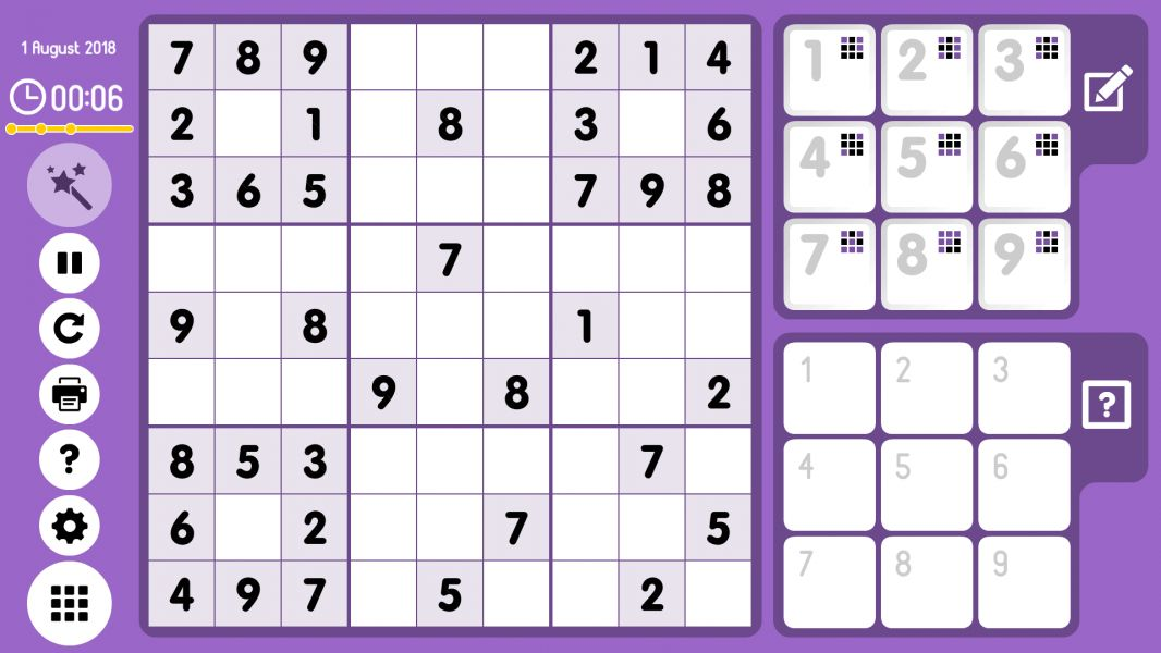 Level 2018-08-01. Online Sudoku