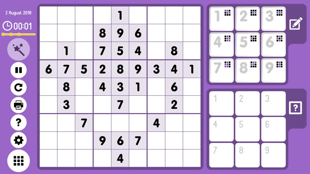 Level 2018-08-02. Online Sudoku