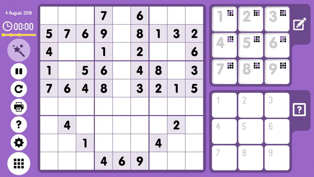 Level 2018-08-04. Online Sudoku