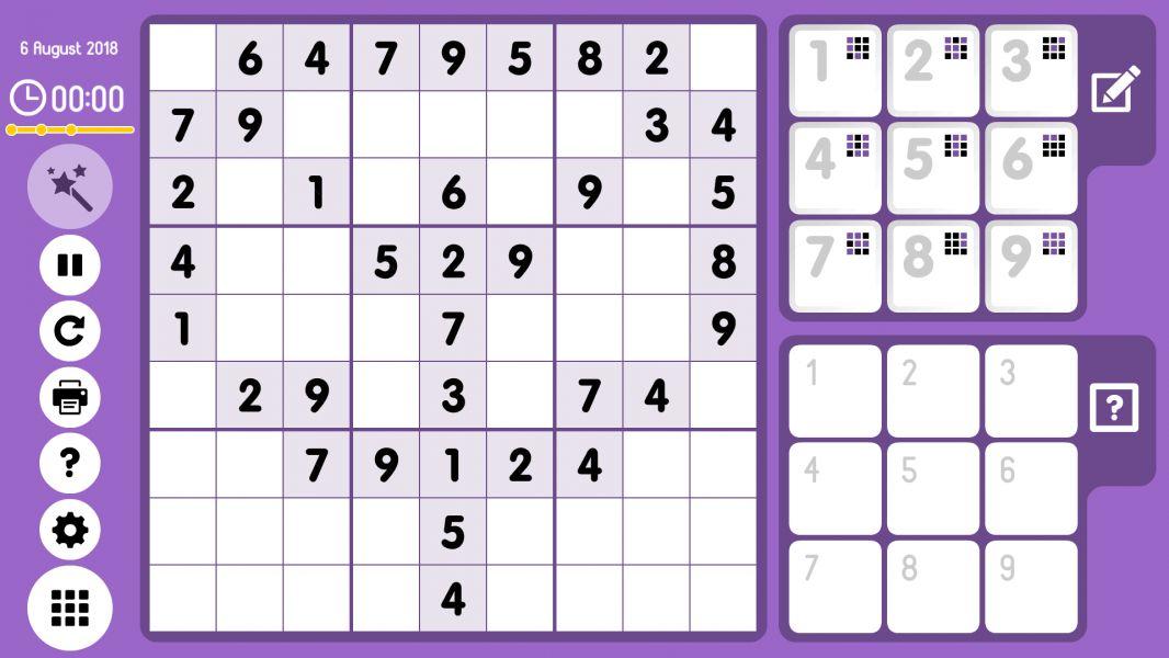 Level 2018-08-06. Online Sudoku