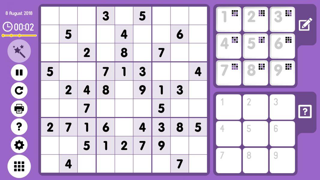 Level 2018-08-08. Online Sudoku
