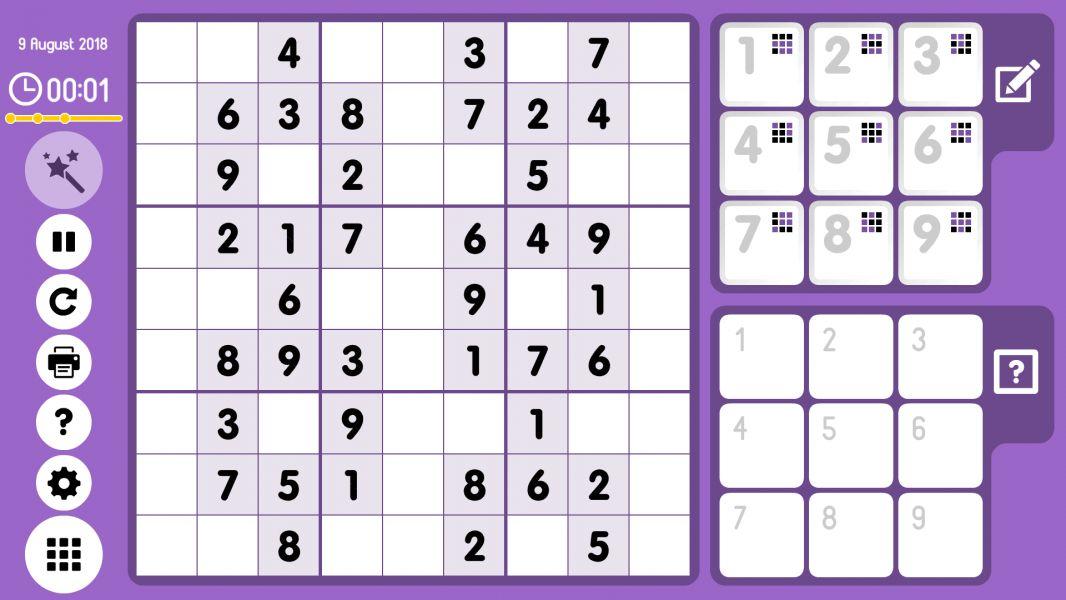 Level 2018-08-09. Online Sudoku