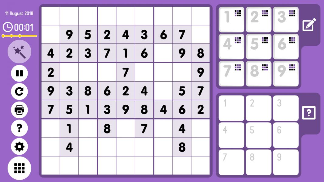 Level 2018-08-11. Online Sudoku