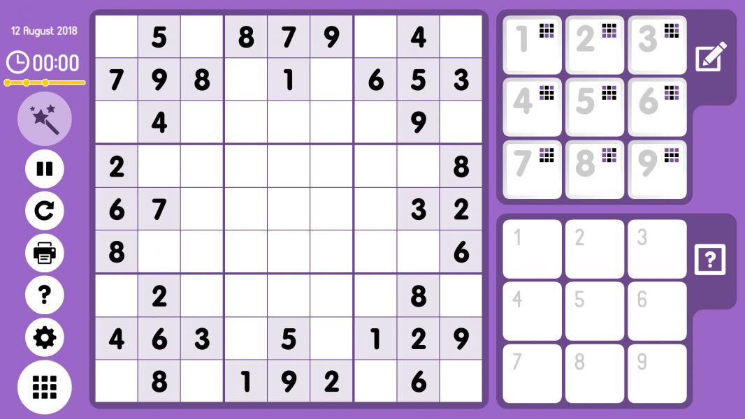 Level 2018-08-12. Online Sudoku
