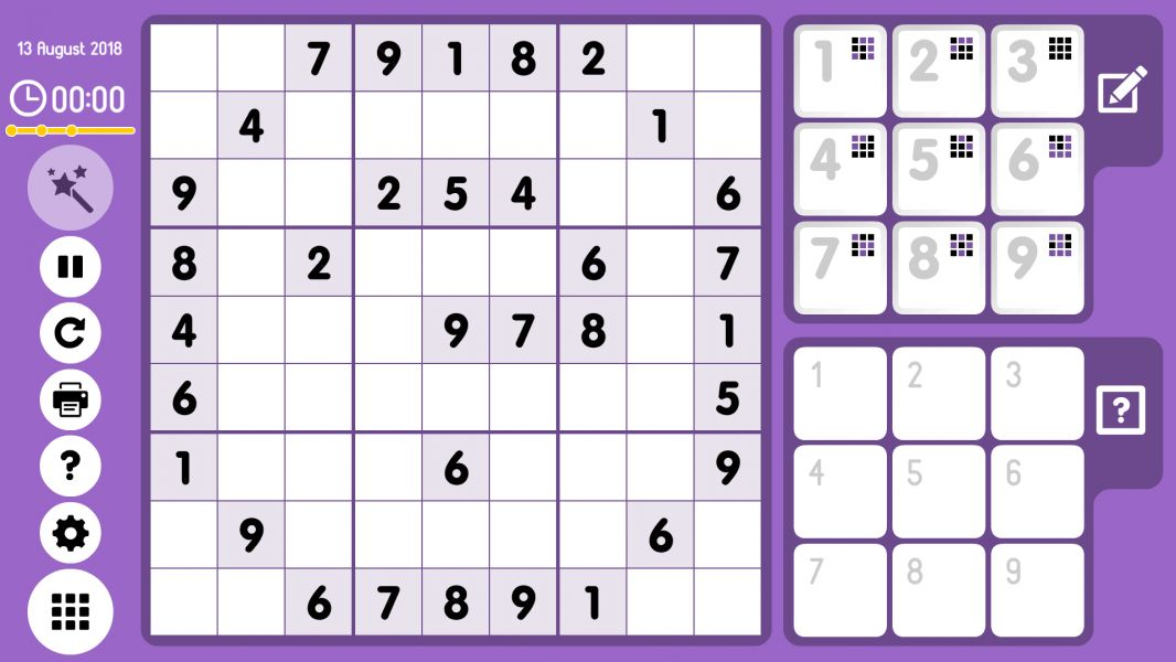 Level 2018-08-13. Online Sudoku