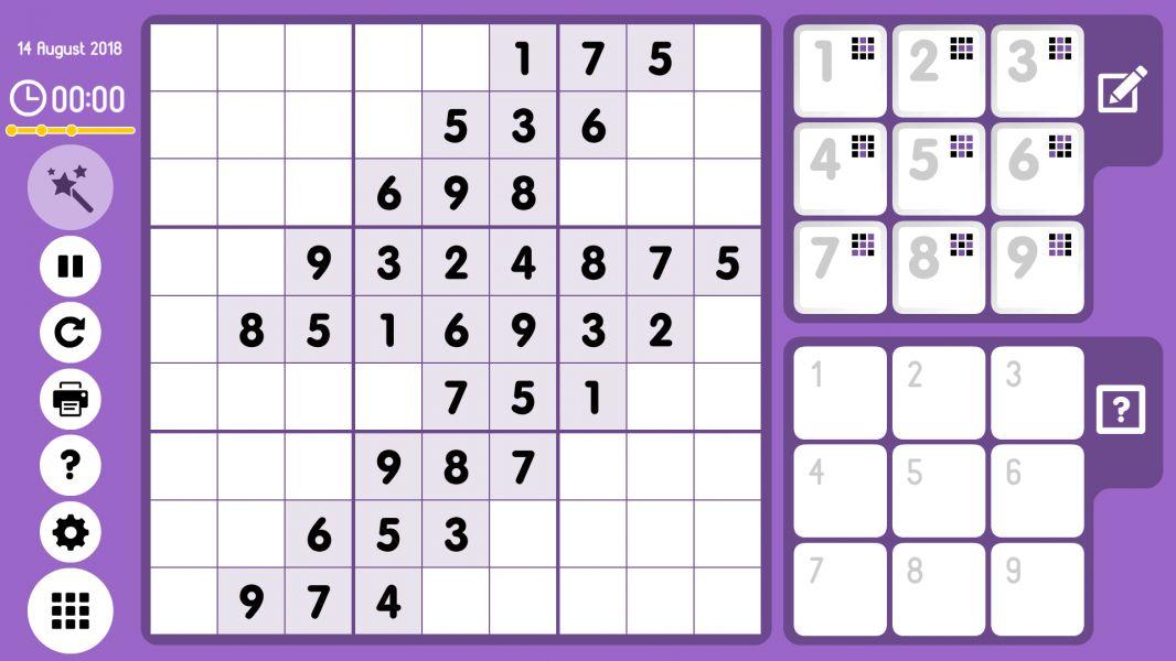 Level 2018-08-14. Online Sudoku