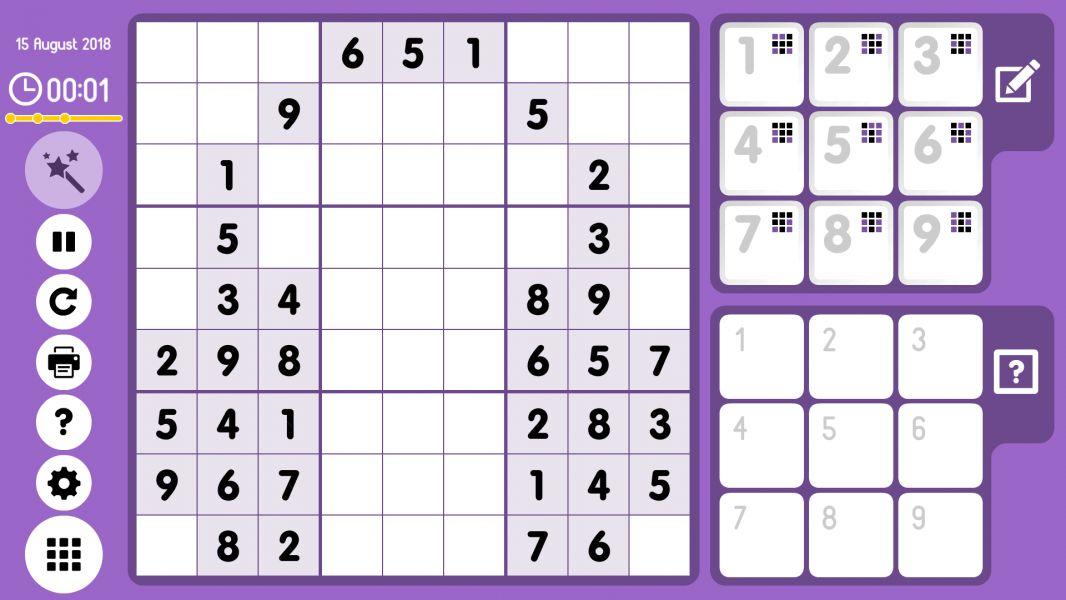 Level 2018-08-15. Online Sudoku