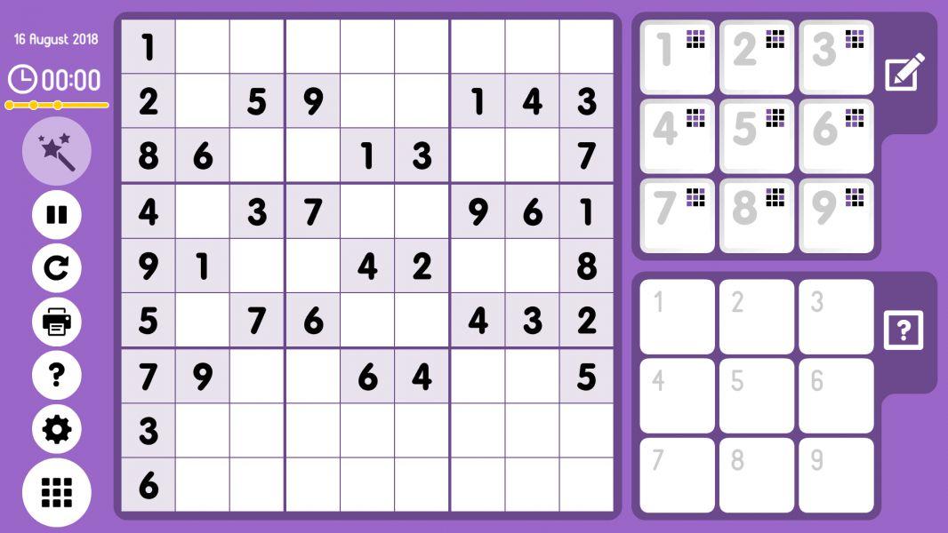 Level 2018-08-16. Online Sudoku
