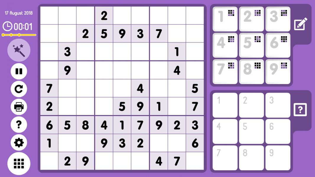 Level 2018-08-17. Online Sudoku