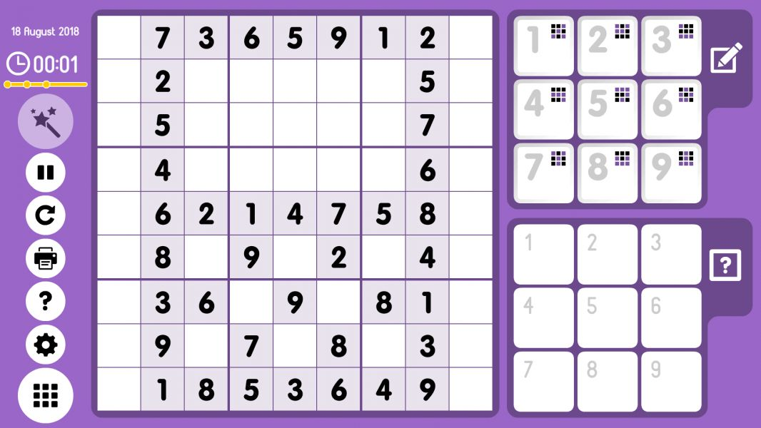 Level 2018-08-18. Online Sudoku