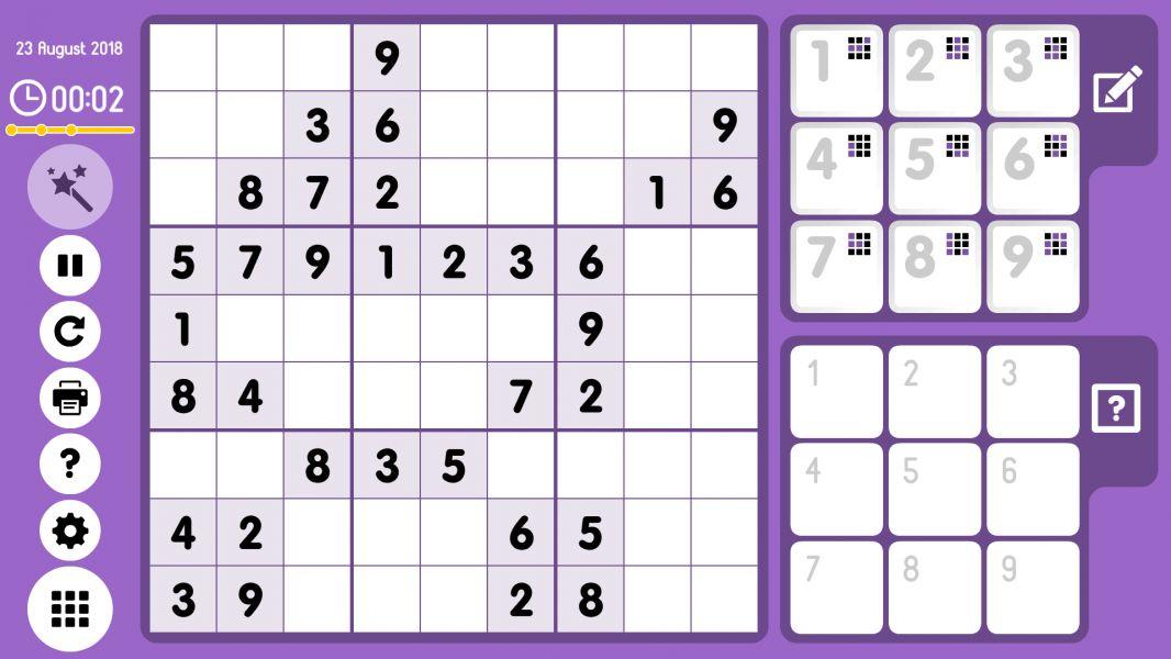 Level 2018-08-23. Online Sudoku