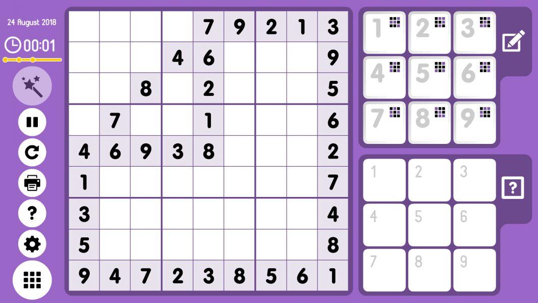 Level 2018-08-24. Online Sudoku