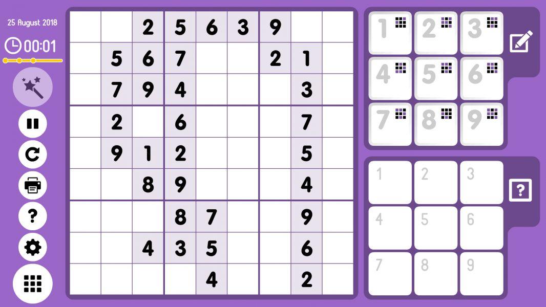 Level 2018-08-25. Online Sudoku