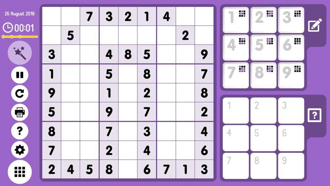 Level 2018-08-26. Online Sudoku