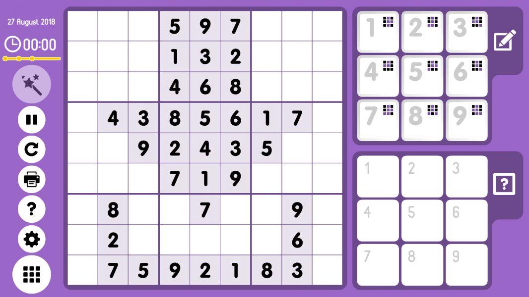 Level 2018-08-27. Online Sudoku