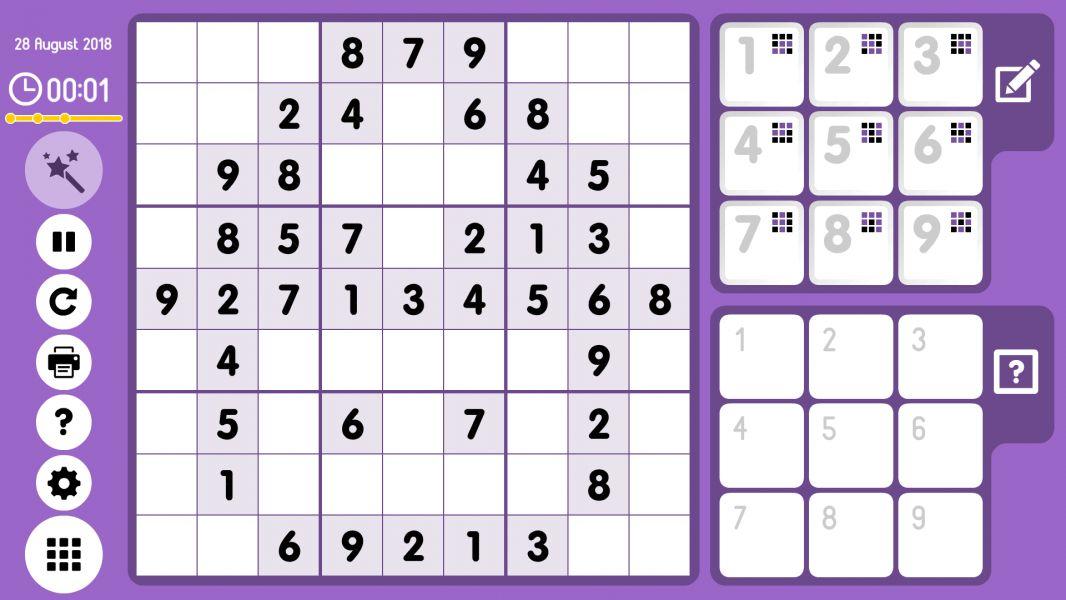 Level 2018-08-28. Online Sudoku