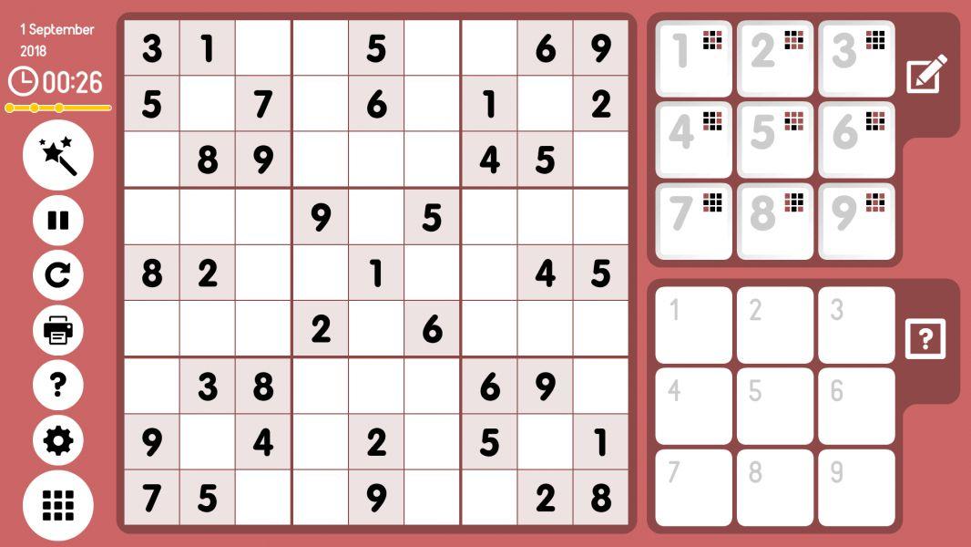 Level 2018-09-01. Online Sudoku