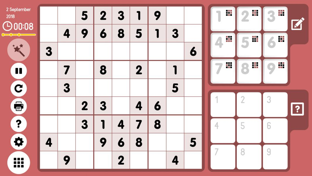 Level 2018-09-02. Online Sudoku