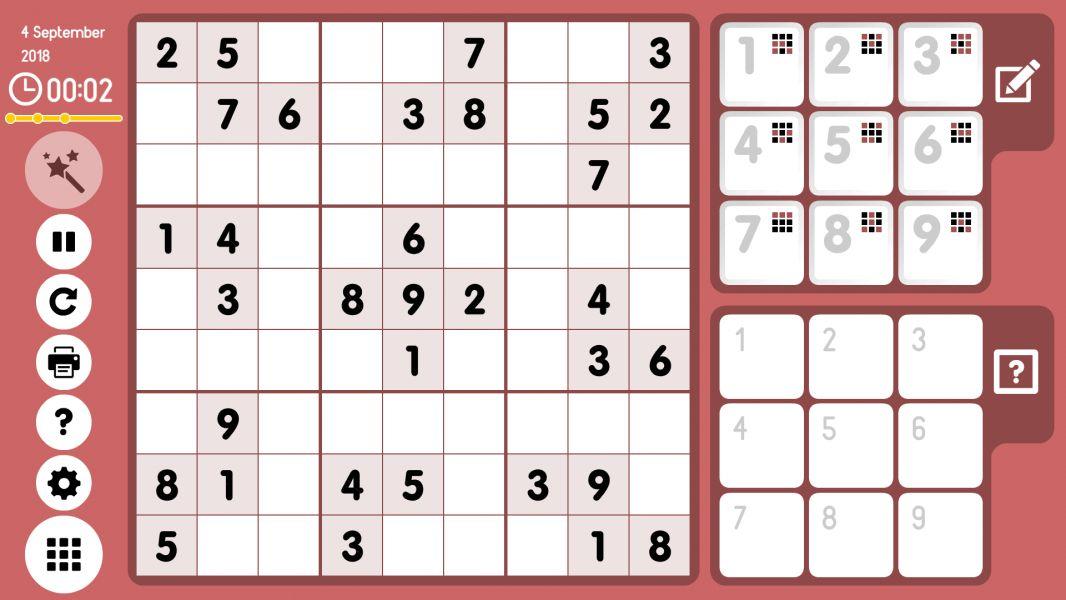 Level 2018-09-04. Online Sudoku