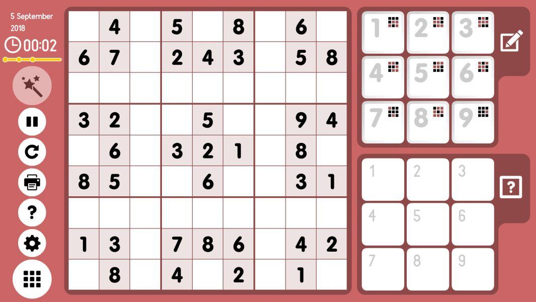 Level 2018-09-05. Online Sudoku