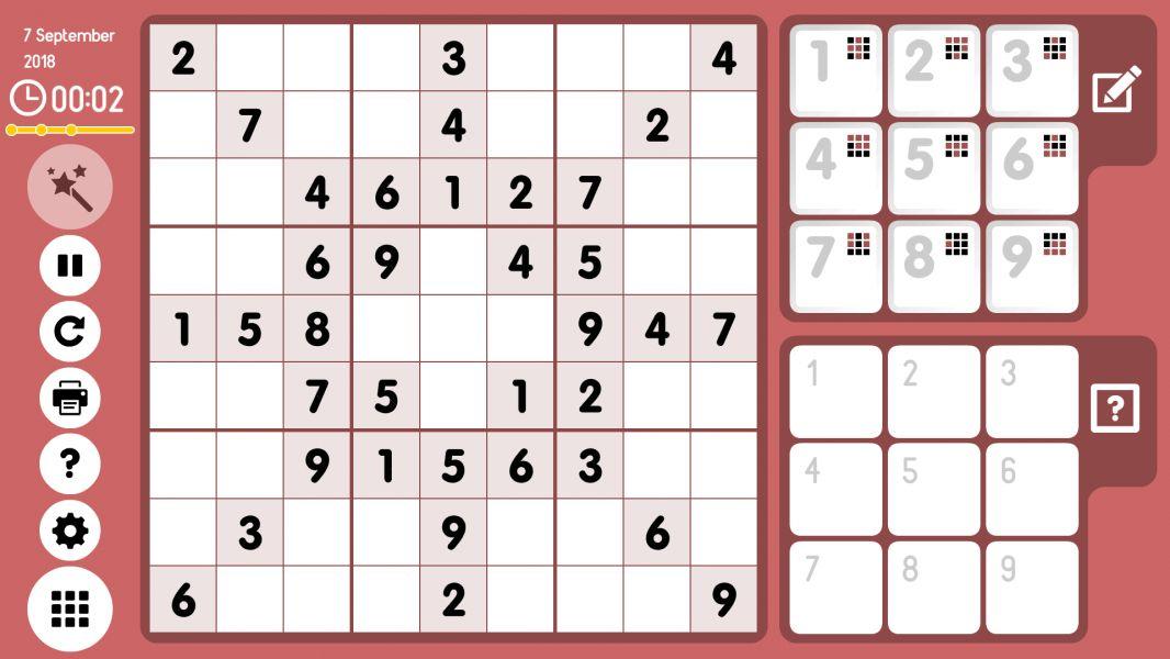 Level 2018-09-07. Online Sudoku