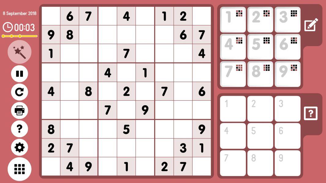 Level 2018-09-08. Online Sudoku