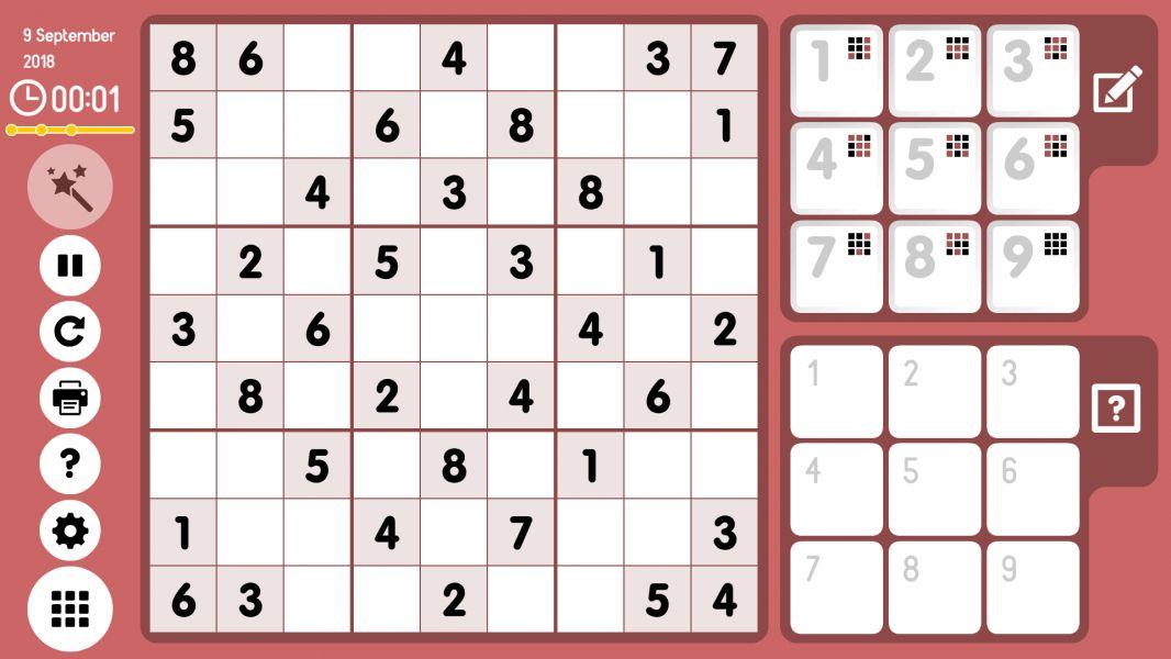 Level 2018-09-09. Online Sudoku