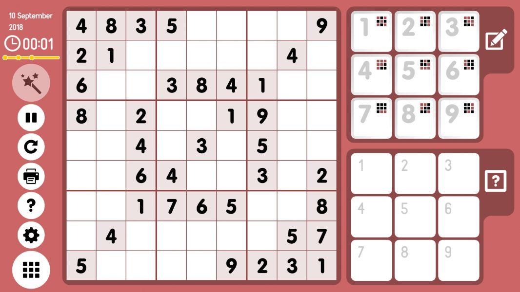 Level 2018-09-10. Online Sudoku