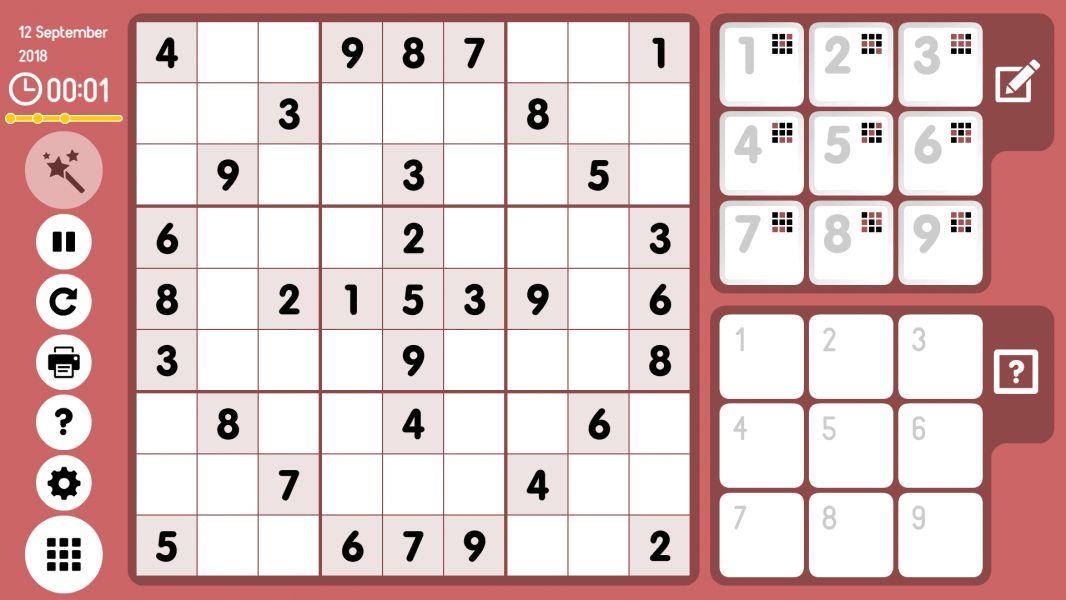 Level 2018-09-12. Online Sudoku
