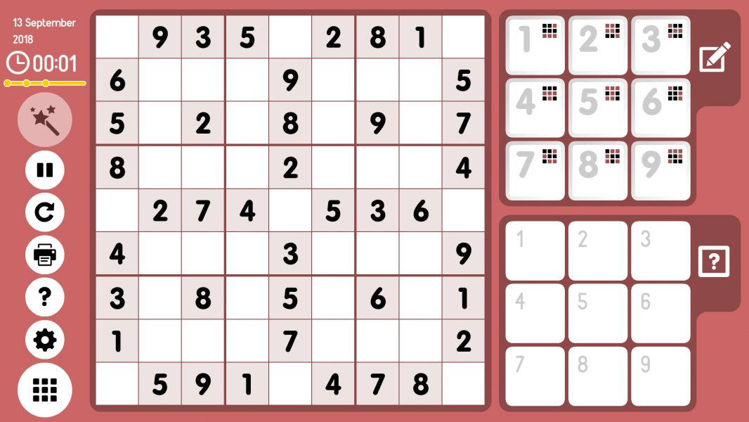 Level 2018-09-13. Online Sudoku