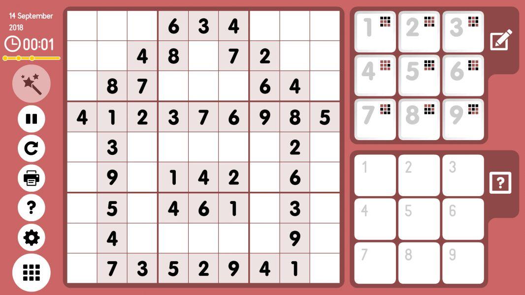 Level 2018-09-14. Online Sudoku