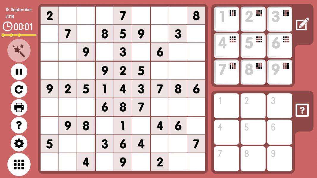 Level 2018-09-15. Online Sudoku