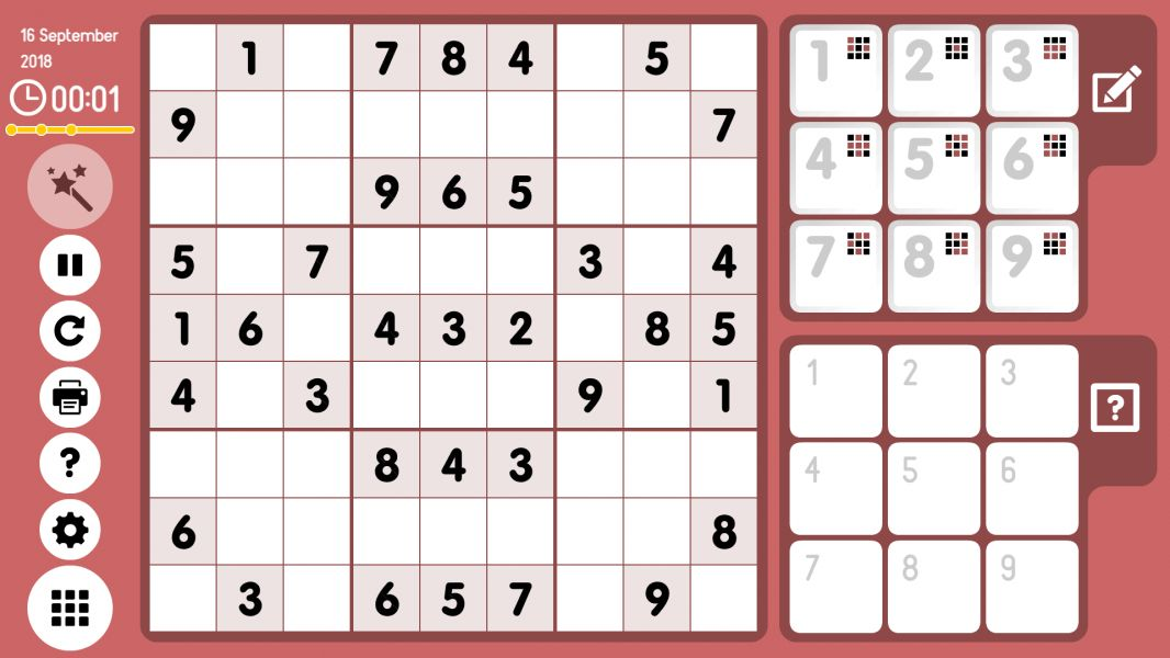 Level 2018-09-16. Online Sudoku