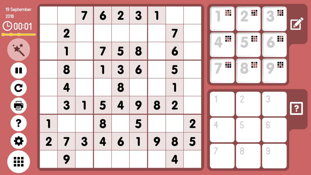 Level 2018-09-19. Online Sudoku